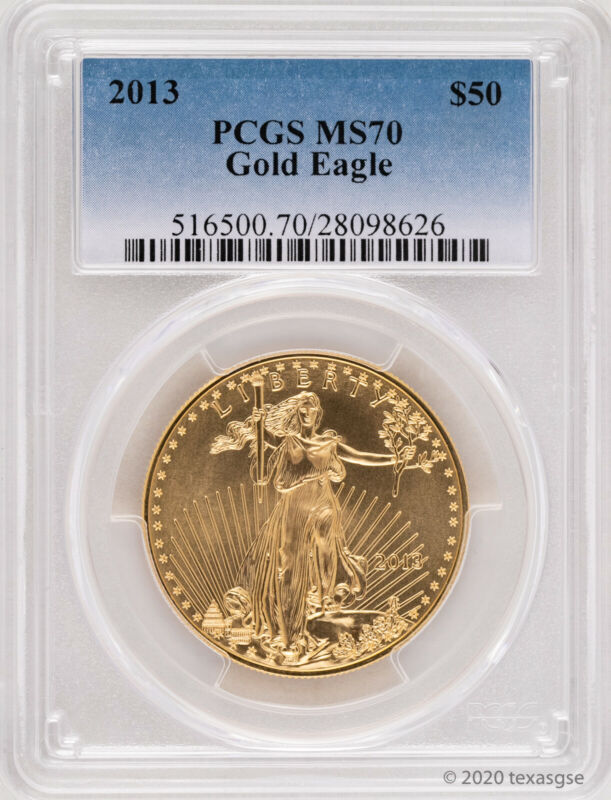 2013 $50 Gold Eagle PCGS MS70