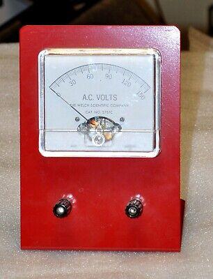 Sargent Welsh Scientific Ac Voltmeter Model 2761c 0-150v Vintage School Surplus
