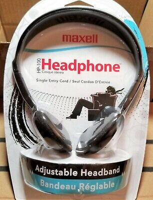 Maxell HP-100 Headband Headphones - Black