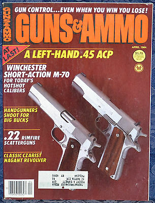 Magazine GUNS & AMMO April 1984 !!! NAGANT Model 1895 Russian  REVOLVER !!!  for sale  Shipping to Canada