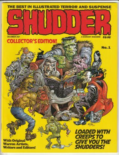 SHUDDER MAGAZINE #1 DEC 2021 NM 9.4 (UNREAD) WARRANT PUBS - FORMALLY THE CREEPS