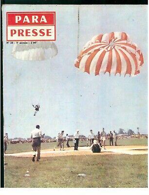 PARA PRESSE REVUE DE PARACHUTISTES FRANCAIS N. 38 1960 PARACADUTISMO AERONAUTICA