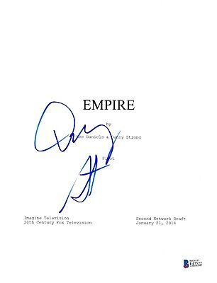 DANNY STRONG SIGNED EMPIRE PILOT EPISODE SCRIPT BECKETT BAS AUTOGRAPH AUTO (Empire Pilot Episode)