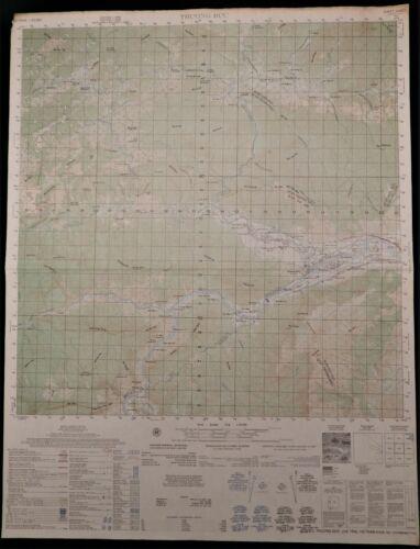 MAP  –  VIETNAM WAR  –  THUONG DUC SPECIAL FORCES CAMP – SONG VU GIA – 6540-I