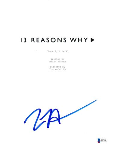 TOM MCCARTHY SIGNED 13 REASONS WHY PILOT SCRIPT BECKETT BAS AUTOGRAPH AUTO