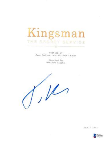 TARON EGERTON SIGNED KINGSMAN SECRET SERVICE SCRIPT BECKETT BAS AUTOGRAPH AUTO