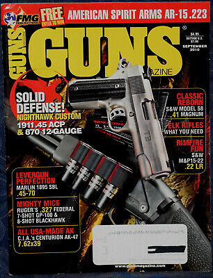 Magazine GUNS September 2010 S&W M&P15-22 RIFLE, SMITH & WESSON Model 58 .41 Mag for sale  Shipping to Canada