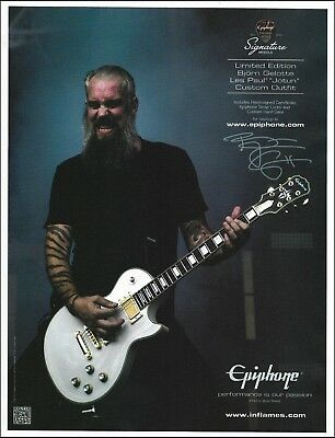 Bjorn Gelotte Signature Epiphone Les Paul Jotun Custom Outfit Guitar 8 x 11 ad for sale  Shipping to Canada