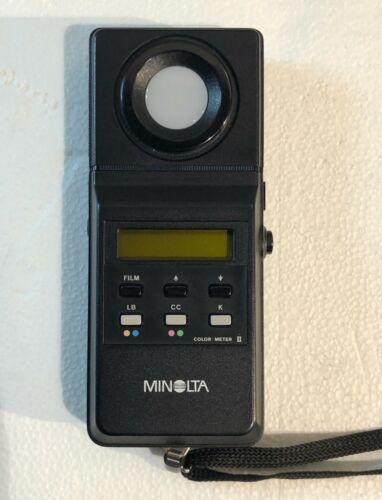 Minolta Color Meter II Color Temperature w/ Case, Excellent Condition!