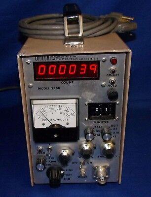 Ludlum 2200 Scaler Rate Meter Sca Geiger Radiation