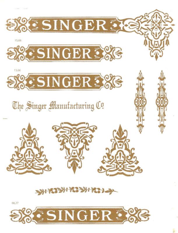 Singer Model 27/127 Celtic Style  Sewing Machine  Restoration Decals