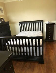 Bedroom Set with crib