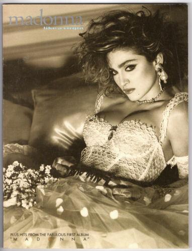 MADONNA Like a Virgin Songbook 1985 PIANO / VOCAL 1st album Borderline