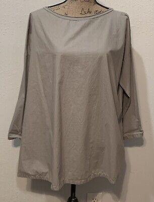 Labo.art Labo Art Sz 1 US 6 S Taupe Cotton Italy Lagenlook Tunic Top NWOT