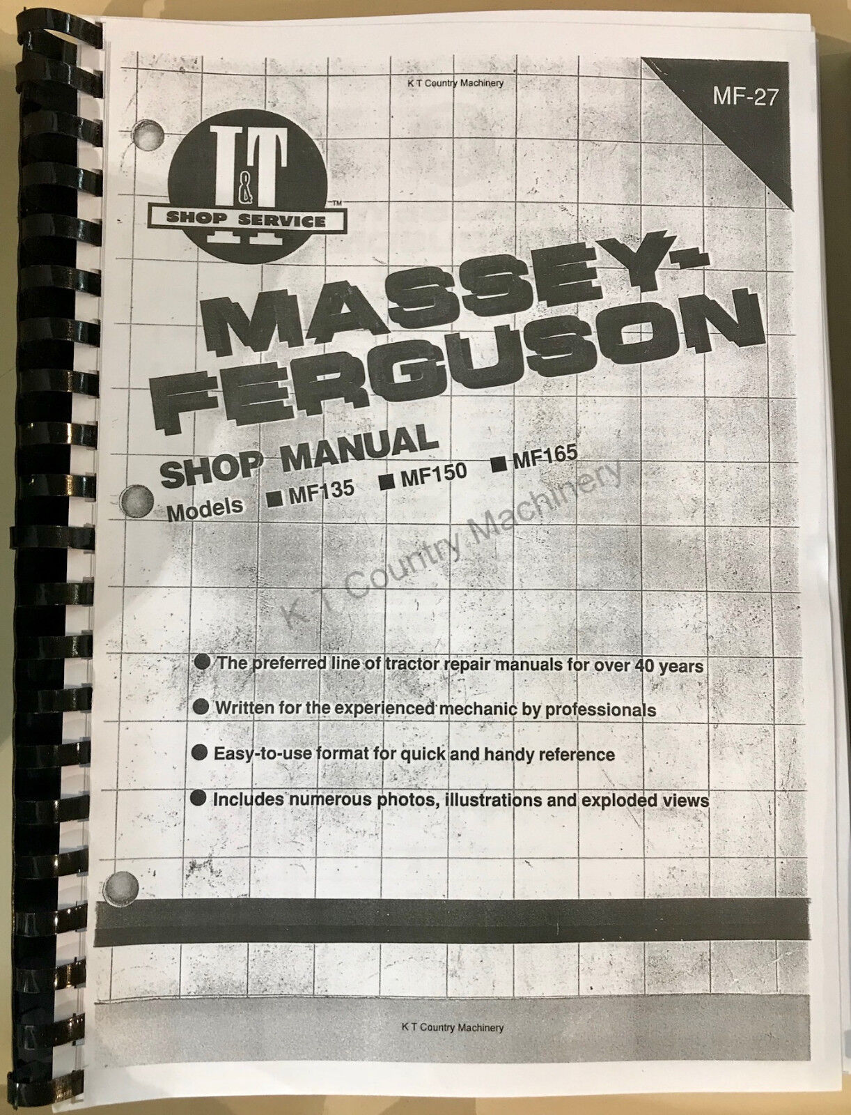 Massey 168 Workshop Manual Reprint 1856000m1 Business, Office & Industrial Massey Ferguson