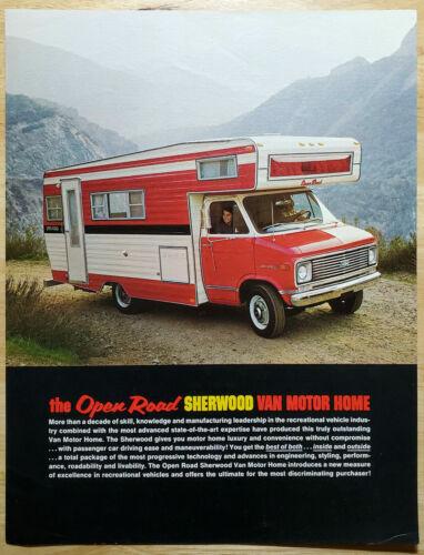 1971 Chevrolet Open Road Van Motor Home sales brochure dealer 1B2