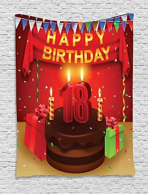 18th Birthday Tapestry Wall Hanging Decoration for Room 2 Sizes - Decorations For 18th Birthday