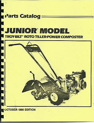 Troy Bilt Junior Tiller Parts Catalog/Manual 1986-copy