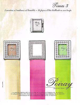 Publicite advertising  2000   poiray  collection montre times 3