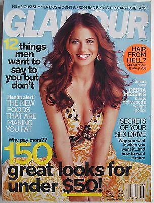 Debra Messing June 2005 Glamour Magazine