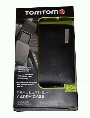 GENUINE TomTom Leather Carry 4.3'' Case for Start 20, ONE XL,XL, VIA, GO,GO LIVE One Xl Carry Case