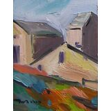 JOSE TRUJILLO OIL PAINTING IMPRESSIONIST HOUSES BUILDINGS WALL ART DECOR SIGNED
