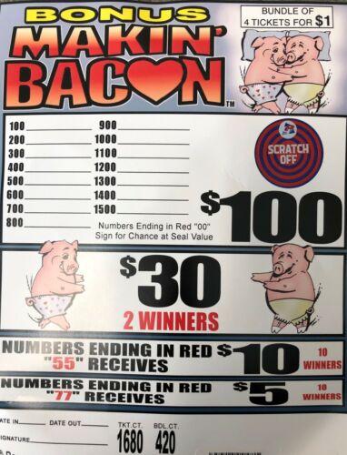 $110 PROFIT 420 BUNDLE COUNT, 4-FOLD $1 JAR TICKET BONUS MAKIN