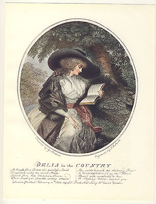 George Morland Delia In The Country 1906 Colour Print