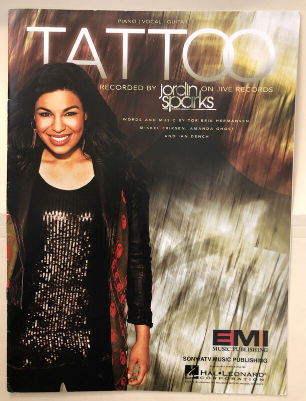 TATTOO by Jordin Spatks Sheet Music Piano/Vocal/Guitar