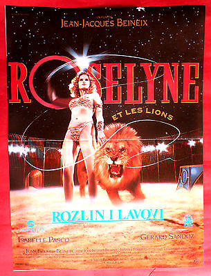 ROSELYNE AND LIONS 1989 FRENCH JACQUES BEINEIX ISABELLE PASCO  EXYU MOVIE POSTER