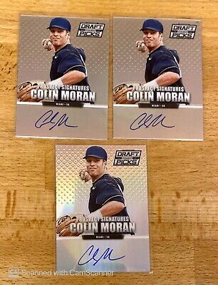 LOT (3) 2013 PRIZM DRAFT PICKS COLIN MORAN RC ROOKIE AUTO AUTOGRAPH 2 REF 1 BASE