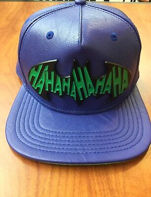 D.C. Comics THE JOKER Suit Up Leather SnapBack Hat. Brand New. One Size Fits All