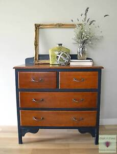 Vintage french provincial silky oak drawers New Beith Logan Area Preview