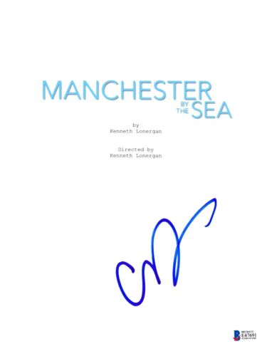 CASEY AFFLECK SIGNED MANCHESTER BY THE SEA SCRIPT BECKETT BAS AUTOGRAPH AUTO