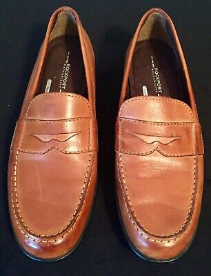 Rockport Walkability Brown/Tan Loafers Men's (Brown Rockports)
