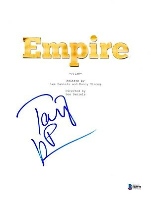 TARAJI P HENSON SIGNED EMPIRE PILOT EPISODE SCRIPT BECKETT BAS AUTOGRAPH AUTO (Empire Pilot Episode)