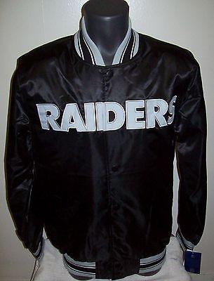 Oakland Raiders Starter Snap Down Jacket Sping Summer M   Xl  Xxl