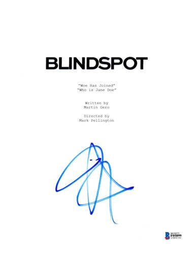 JAIMIE ALEXANDER SIGNED BLINDSPOT PILOT SCRIPT BECKETT BAS AUTOGRAPH AUTO