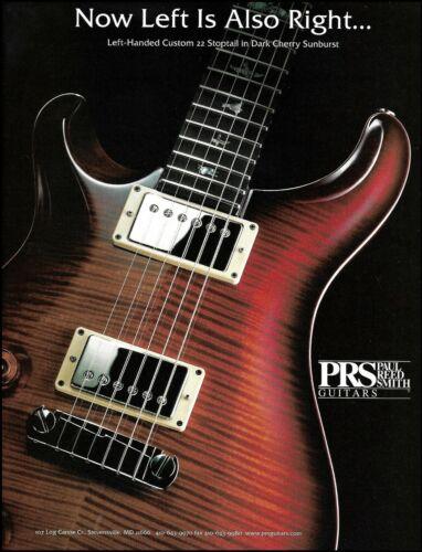 PRS Custom 22 Stoptail Left-Handed guitar 1999 advertisement 8 x 11 ad print