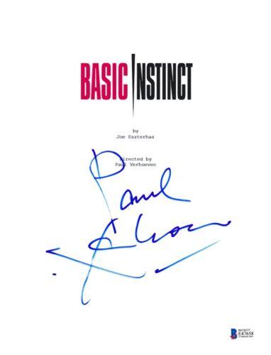 PAUL VERHOEVEN SIGNED BASIC INSTINCT SCRIPT BECKETT BAS AUTOGRAPH AUTO