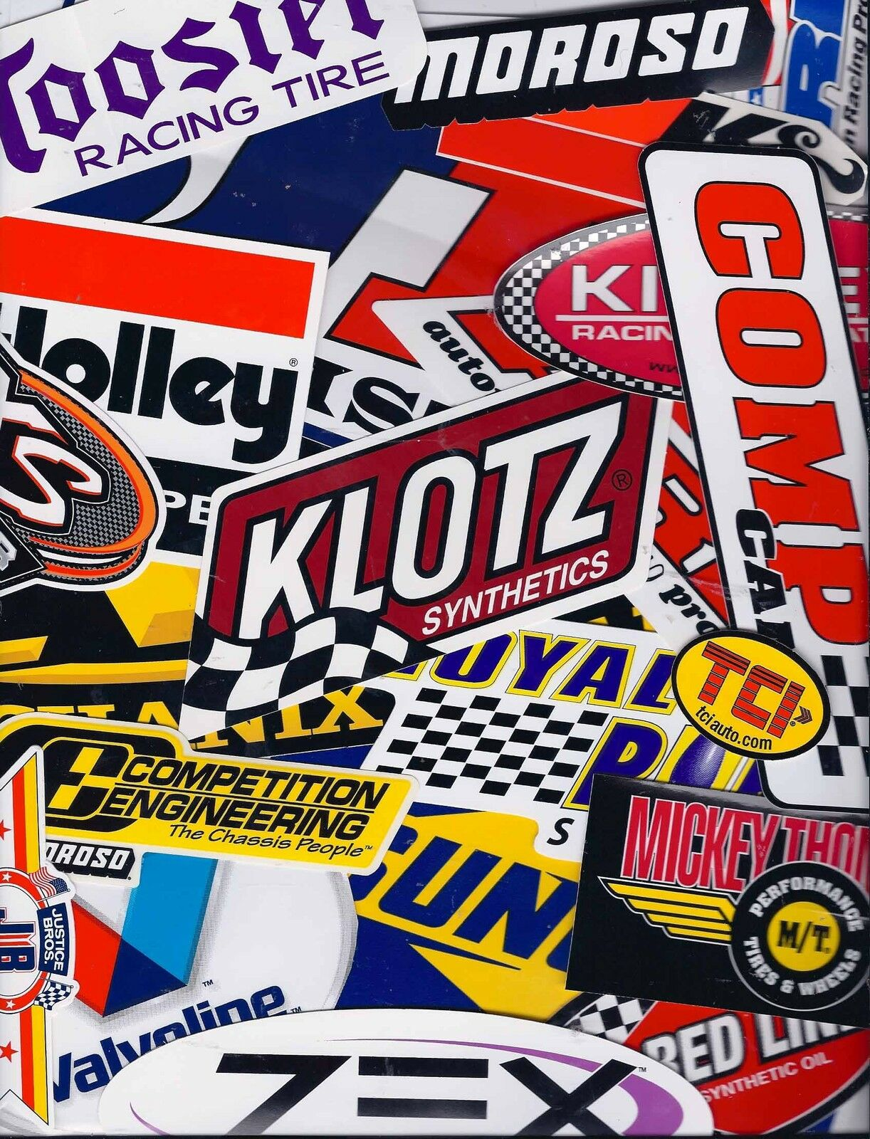 Grab Bag Set Lot of 25+ Assorted Racing Decals Stickers NHRA US FREE SHIPPING