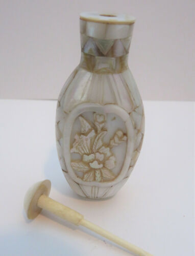Mother of Pearl Snuff Perfume Bottle