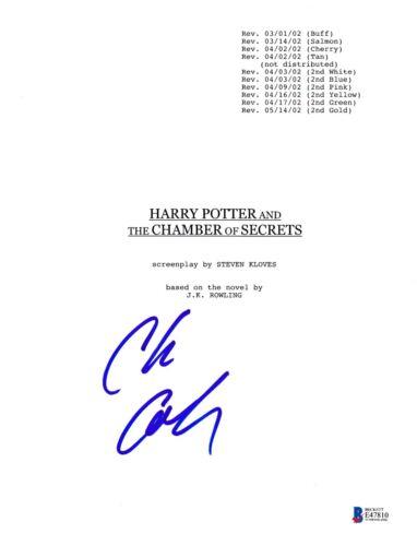 CHRIS COLUMBUS SIGNED HARRY POTTER CHAMBER SECRETS SCRIPT BECKETT BAS AUTOGRAPH