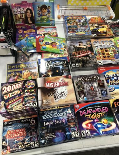 Computer Games - Computer Games- Assorted Disks for Computers: Slots, Mystery, Quest, & More-32pk