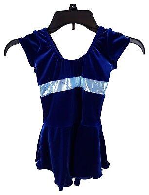 Blue Velvet Ice Skating/Dance Costume - Child 8