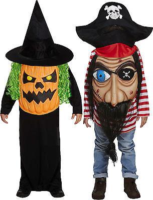 gruseliges Kinder Kostüm Pirat o. Kürbis m. Hut Halloween Jungen Mädchen - Jungen Mädchen Piraten Kostüm