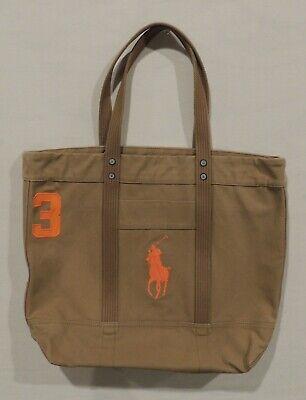NWT Polo Ralph Lauren Big Pony Beach Book Diaper Handbag Bag Canvas/Leather Tote Ralph Lauren Beach Tote