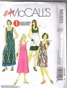 1 Hr Pullover Sleeveless Empire Waist Dress Sewing Pattern Plus Size 18 20 22 24