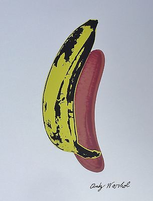 ANDY WARHOL BANANA LIMITED EDITION OF 5000 LITHOGRAPH SIGNED