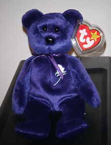 Ty PRINCESS the (Diana) Bear 1997 Beanie Baby ~ MINT ~ RETIRED